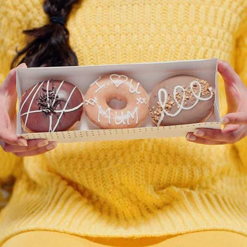 image of small pack of Krispy Kreme doughnuts - yummy, but want more!