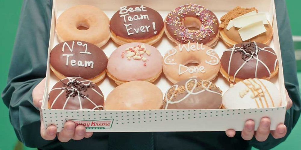 close up image of Krispy Kreme doughnuts - even more yummy