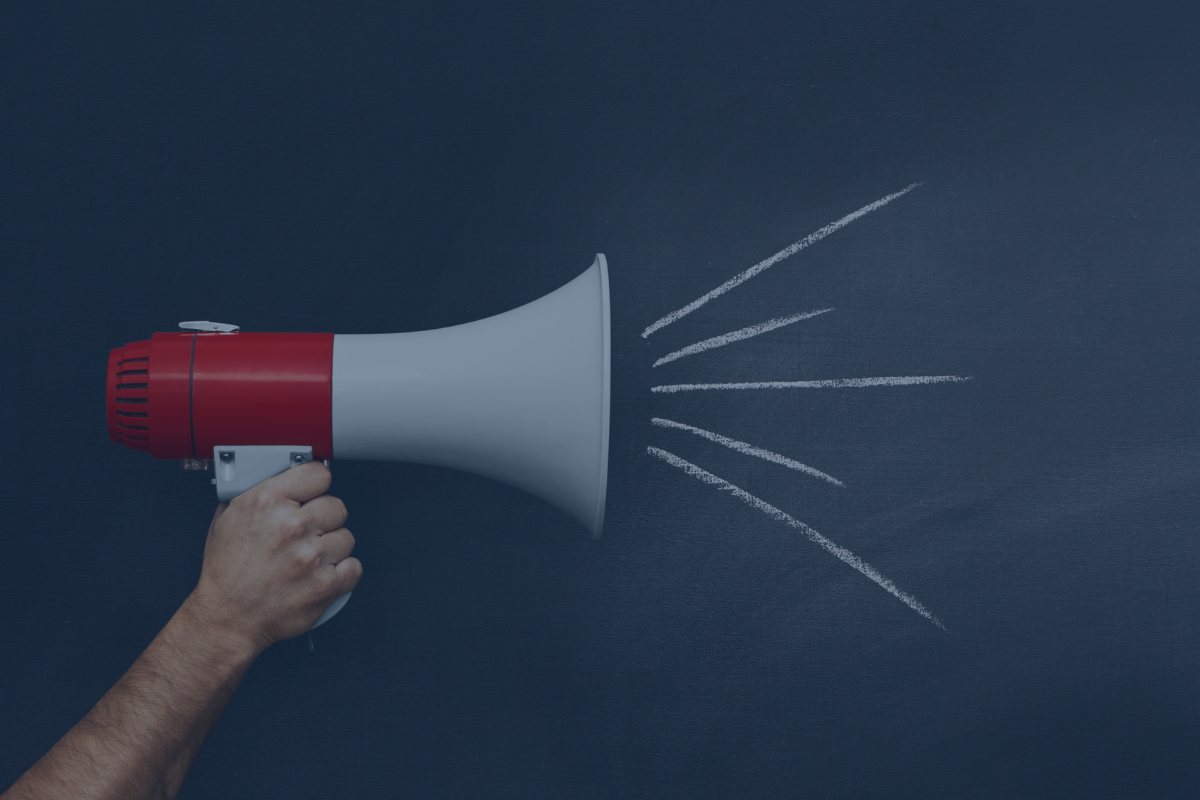 image of megaphone to support article about creating the narrative