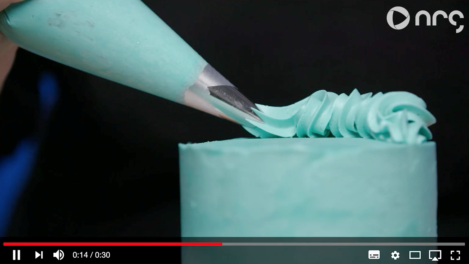 image of a cake to support video about how video content is produced